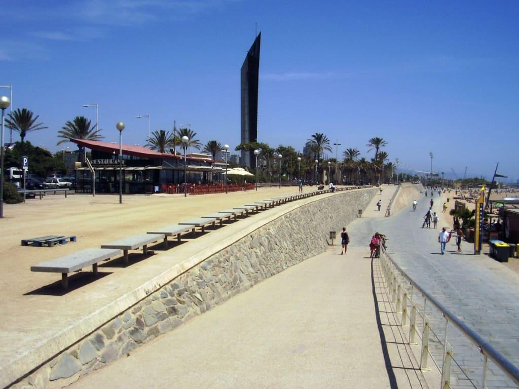 Hotel junto a la Playa del Bogatell en Barcelona