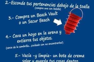 Cómo guardar tus cosas en la playa