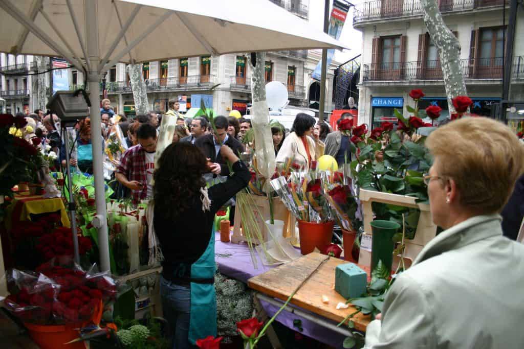 La Fiesta de Sant Jordi en Barcelona