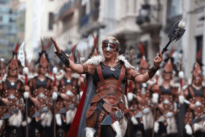 Moros y Cristianos-Fiesta del 9 de Octubre en Valencia 2019