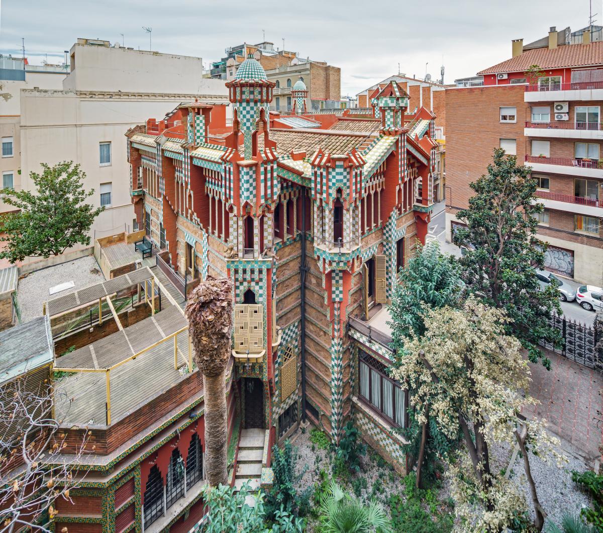 Cinco lugares escondidos en Barcelona - La Casa Vicens es la primera obra de Gaudí